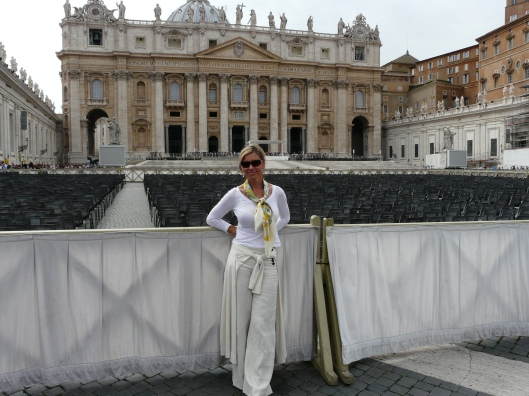In front of St Peter's Basilica, Rome, Italy