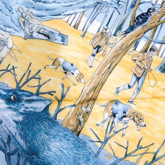 Chasse Au Bois HERMES Silk Scarf UNWORN-5